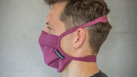 Mascherina per il viso sviluppata con materiale Polygiene